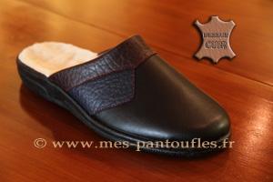 a99b23f18f03e PANTOUFLES CUIR NOIR PANTOUFLES CUIR Très confortable pantoufles ...